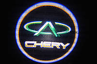 Подсветка дверей авто / лазерная проeкция логотипа Chery | Чери