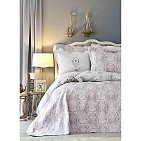 Набор постельное белье с покрывалом Karaca Home - Quatre delux murdum 2019-2 фиолетовый евро