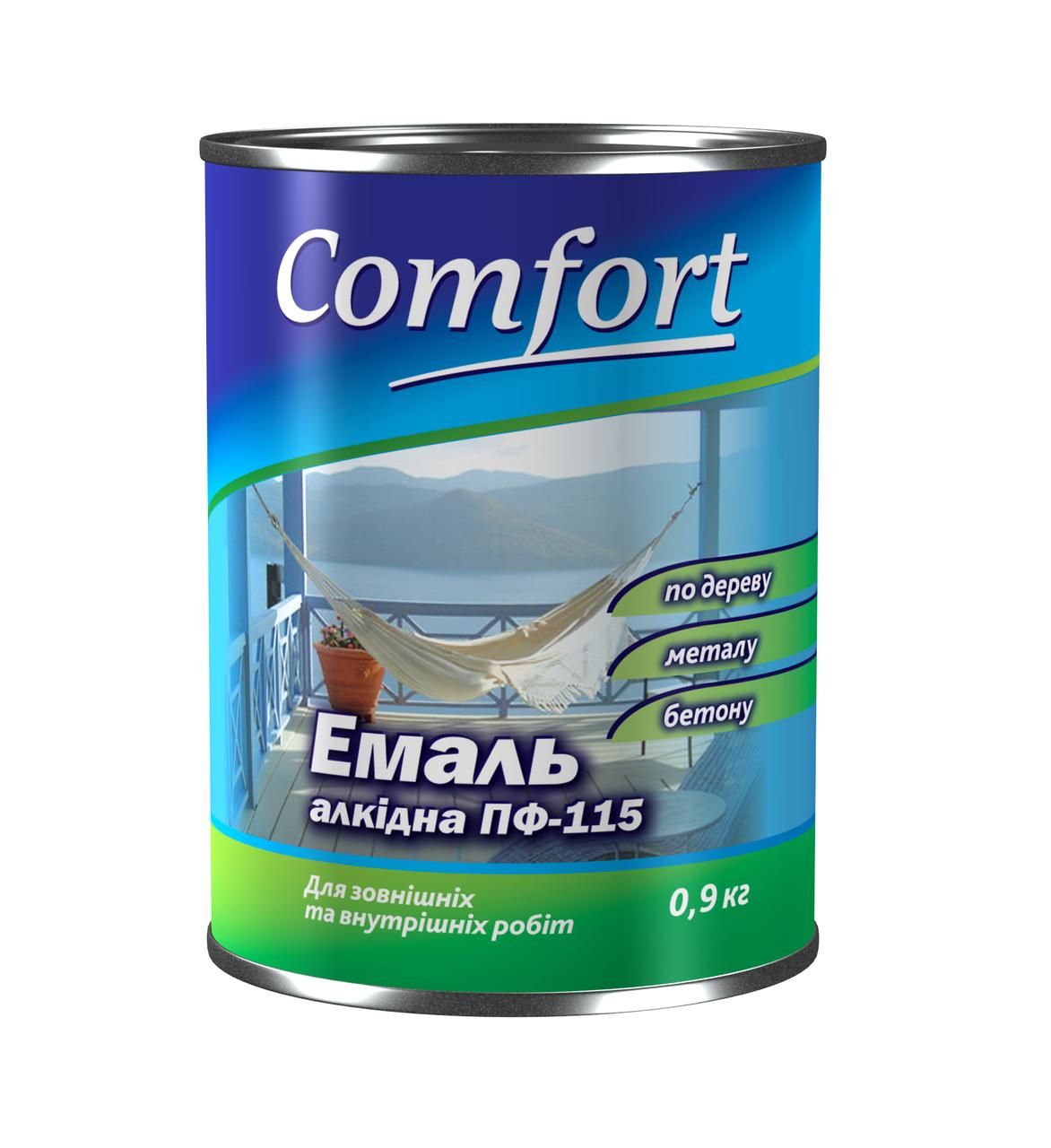 Эмаль алкидная светло-голубая 0.9 кг  ТМ Комфорт,  завод Поликолор
