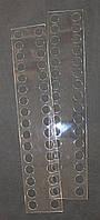 Органайзер акриловый для мулине прозрачный, 32 места. Размер общий 227*45 мм, толщина - 0,5мм