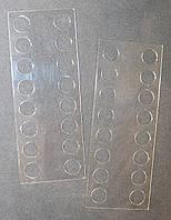Органайзер акриловый для мулине прозрачный, 16 мест. Размер общий 115*45 мм, толщина - 0,4мм