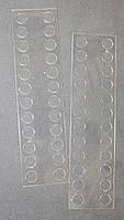 Органайзер акриловый для мулине прозрачный, 24 места. Размер общий 170*45 мм, толщина - 0,4мм