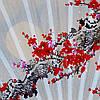 Веер настенный Сакура,90 см, фото 2