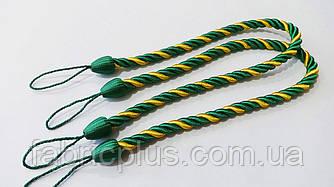 Подхваты для штор 10 мм*67 см желтый/зеленый
