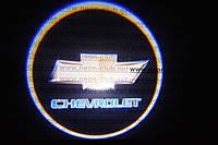 Подсветка дверей авто / лазерная проeкция логотипа Chevrolet   Шевроле