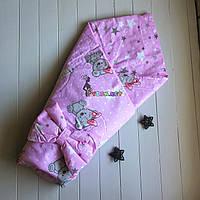 Конверт-одеяло двухсторонний, на съемном синтепоне, Мишки Герл