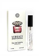 Женский мини-парфюм с феромонами Versace Bright Crystal (Версаче Брайт Кристалл),10 мл