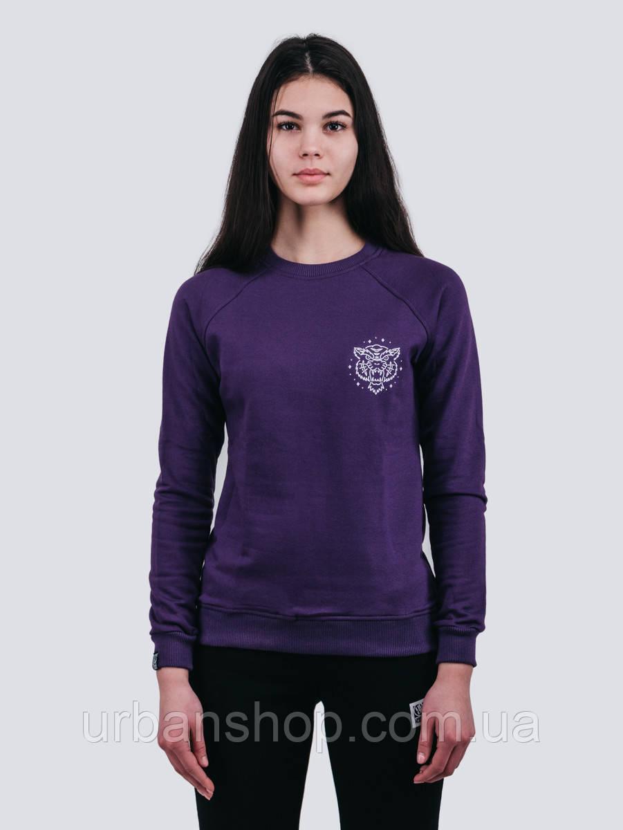 Свитшот женский TIGER PURPLE Urban Planet M 90% котон, 10% еластан Фиолетовый UP 4-4-1-9