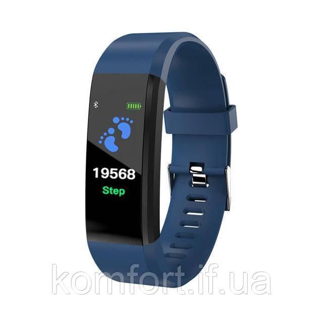 Умный фитнес браслет  ID 115 Plus синий