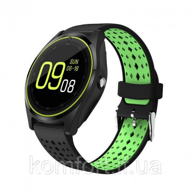 Умные смарт часы Smart Watch V9 Black-Green