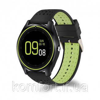 Умные смарт часы Smart Watch V9 Black-Green, фото 2
