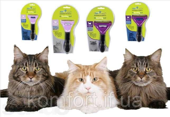 Щетка для груминга кошек 10,6 см с кнопкой, фото 2