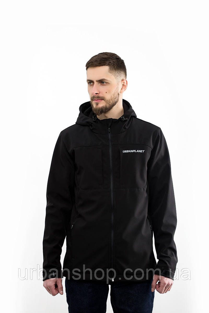 Куртка WM7 SOFTSHELL BLK Urban Planet XXXL 100% поліестер Черный UP 2-1-1-31