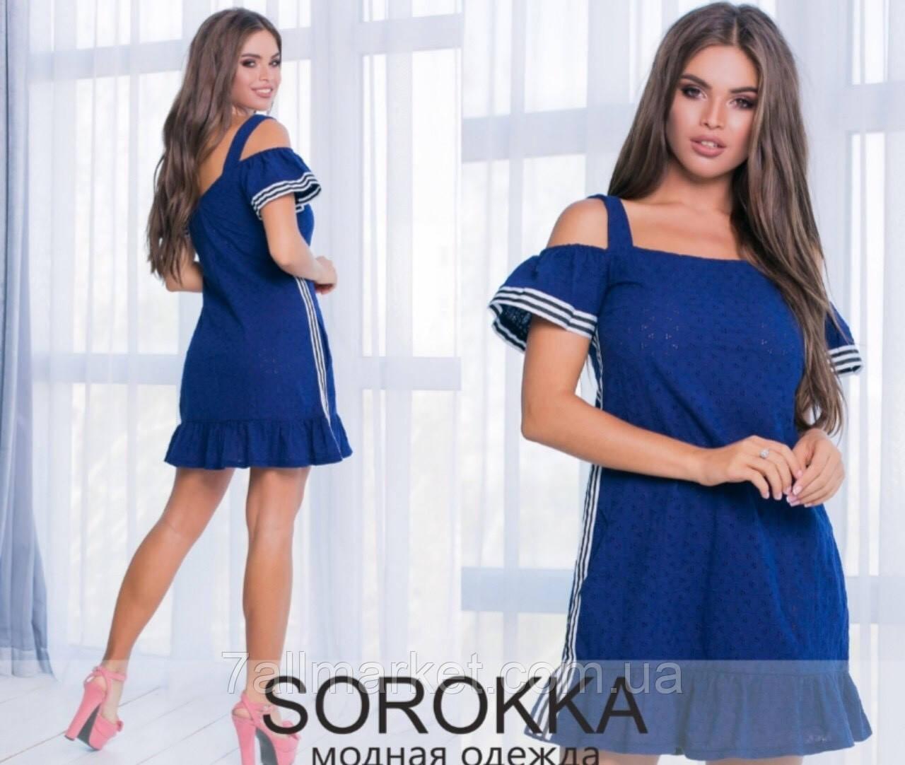 """Платье женское летнее с лампасами, размеры 42-44 """"BIANCA"""" купить недорого от прямого поставщика"""