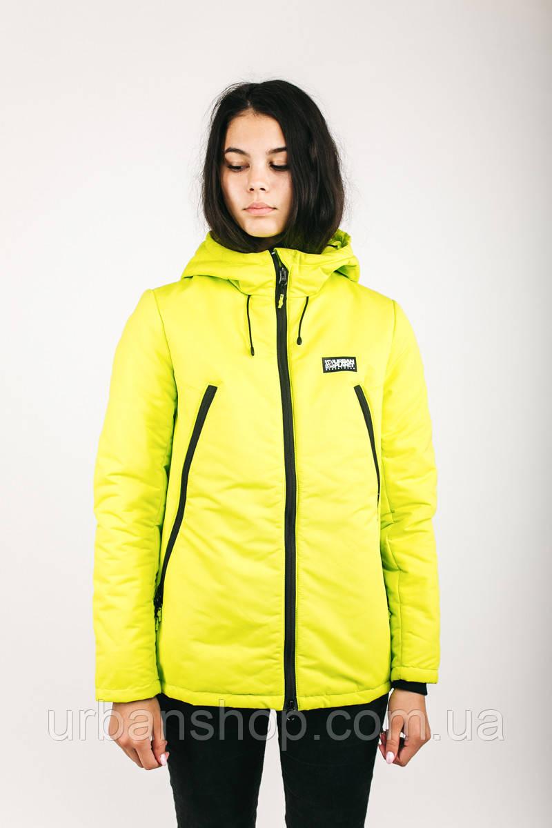 Куртка женская зимняя AW3 SAFETY Urban Planet XXL 100% поліестер Салатовый UP 2-1-2-08