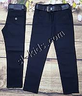 7533e500 Школьные штаны,джинсы для мальчика 11-15 лет(темно синие)(розн