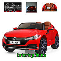Детский электромобиль Volkswagen Arteon красный цвет. Дитячий електромобіль Фольксваген Артеон електрокар