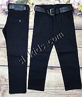 Школьные штаны,джинсы для мальчика 6-10 лет(черные)(розн)  пр.Турция