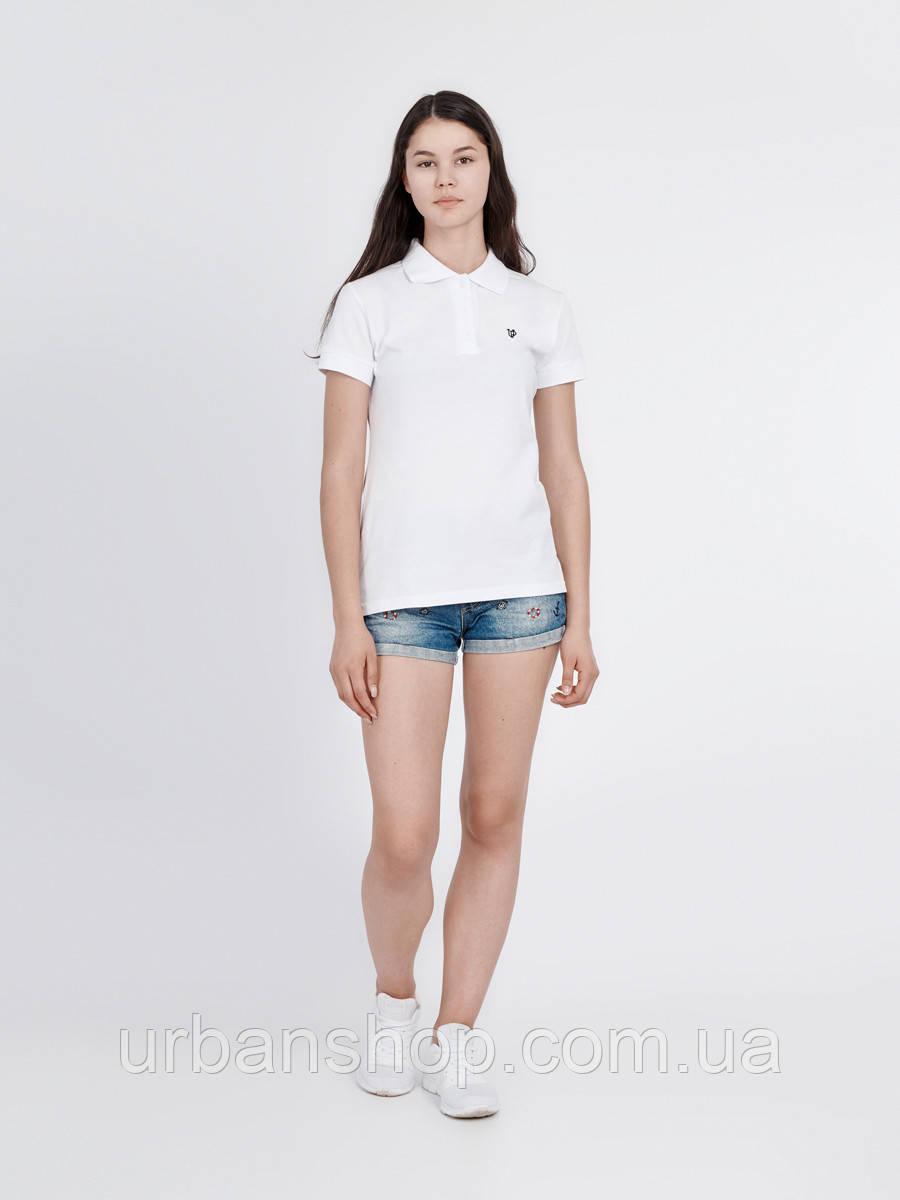 Поло женское WHITE Urban Planet XL 100% котон Белый UP 0-0-1-2-03