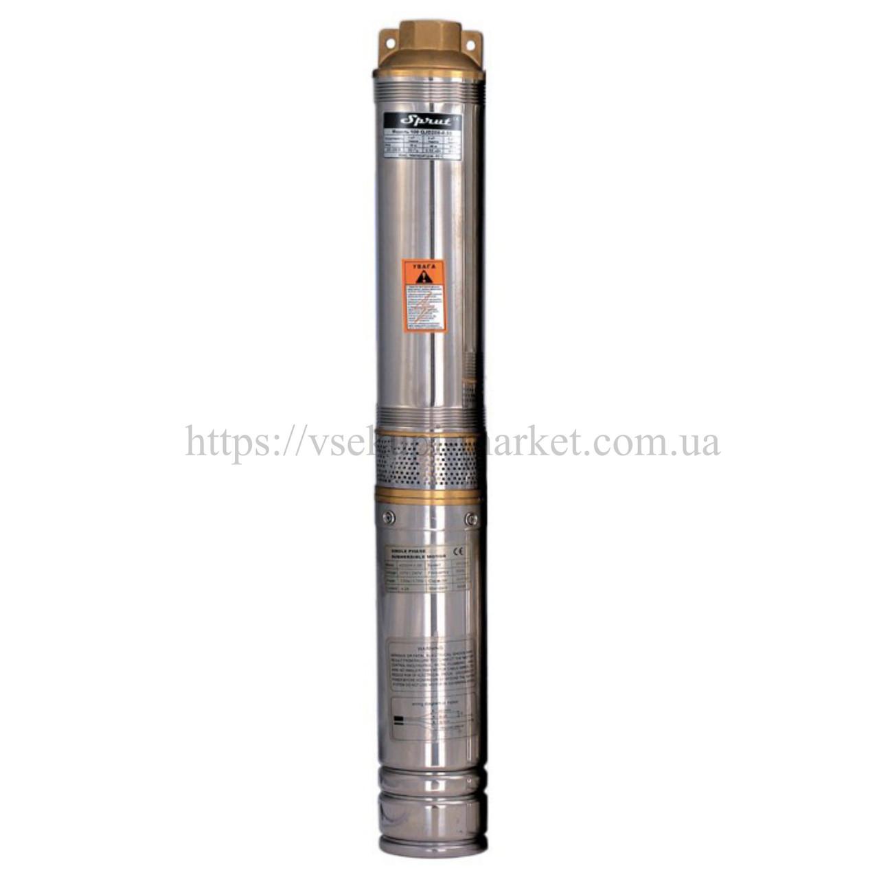 Скважинный насос SPRUT 100QJ 220-1.5 нерж. + пульт
