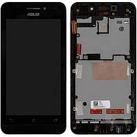 Модуль (дисплей + сенсор) Asus Zenfone 4 (A450CG 4,5 inch) + Touchscreen With Frame Orig Black