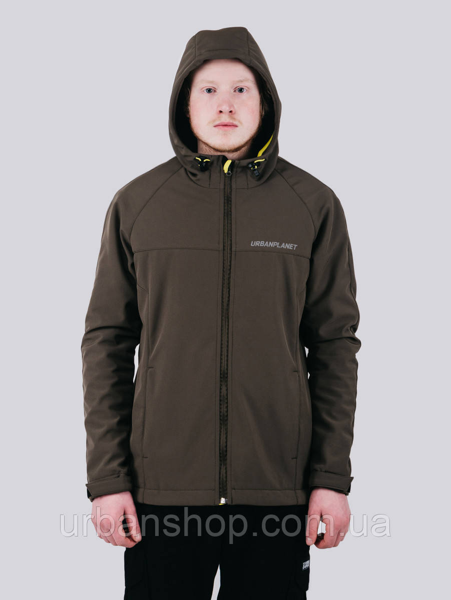 Куртка WM7 SOFTSHELL OLIVE Urban Planet L 100% поліестер Оливковый UP 2-1-1-47