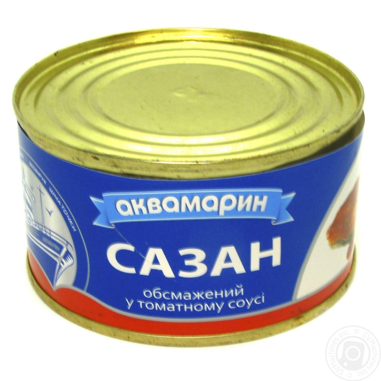 Рыба Сазан  натуральная в томатном соусе 230 грамм