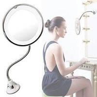 Гибкое зеркало на присоске с 5x увеличением и подсветкой, фото 1