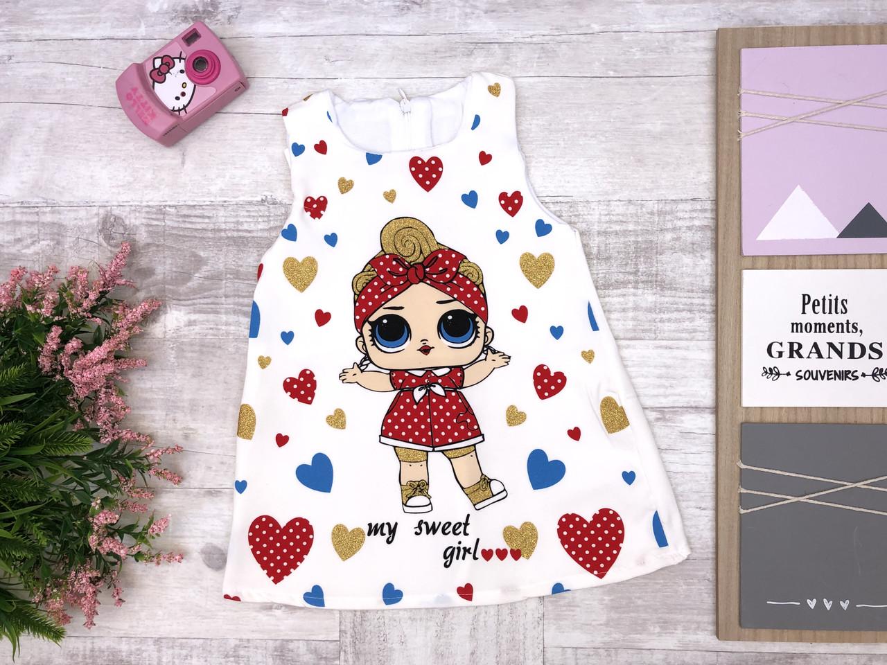 Детское платье 1-2-3-4 года