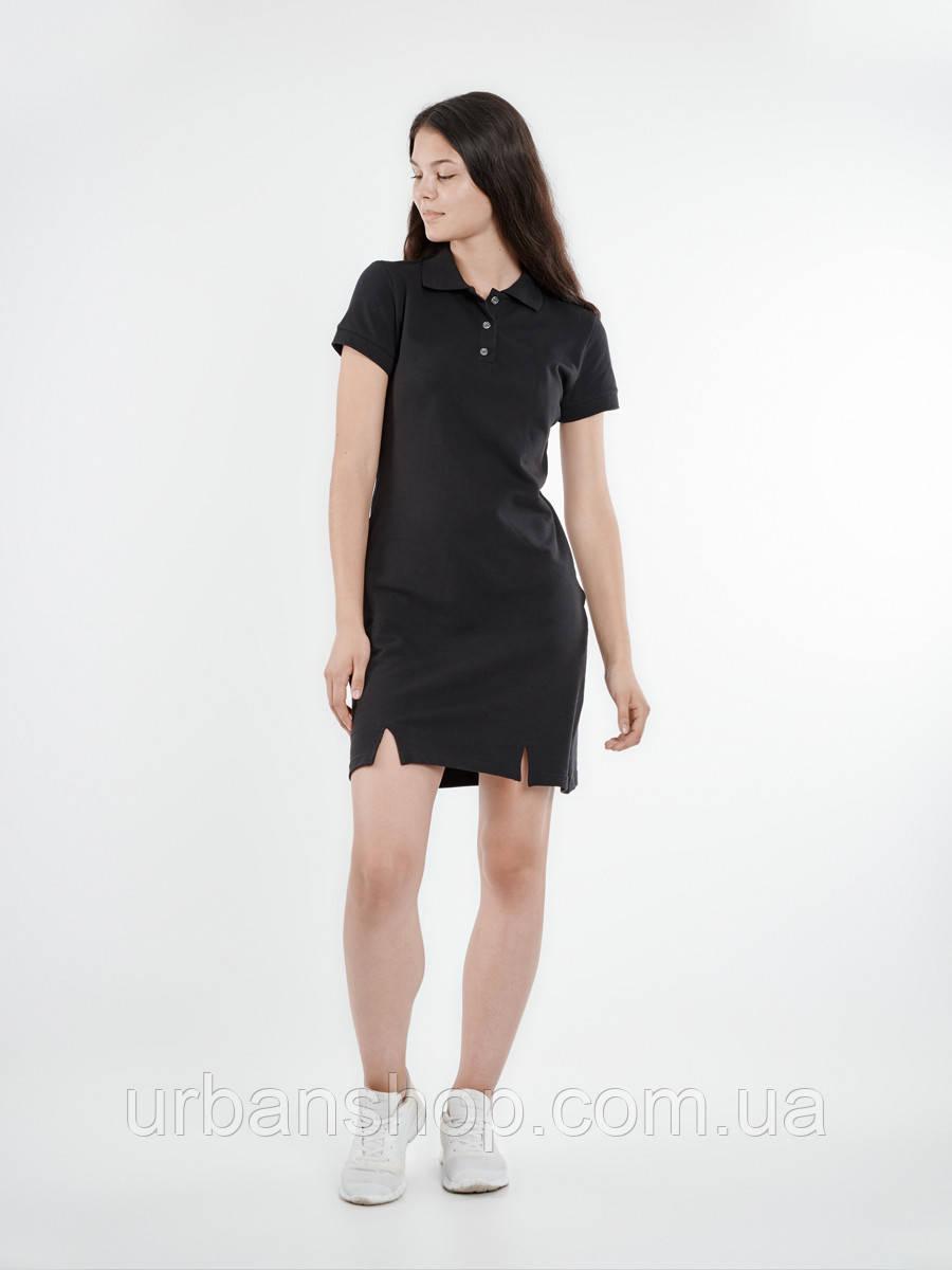 Платье поло BLK Urban Planet XS 100% котон Черный UP 1-1-1-2-02