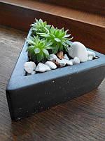 Треугольный горшок, кашпо для кактусов