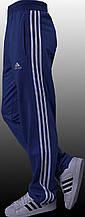 Штани чоловічі спортивні сині, лампас білий. Мод. 4024.