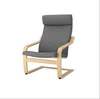 POÄNG, кресло, береза, серый