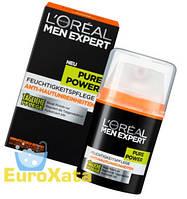 Крем L'Oréal Paris Pure Power Tagespflege для мужчин (50мл) Франция