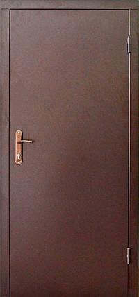 Двери технические металлические модель двух листовая коричневая., фото 2