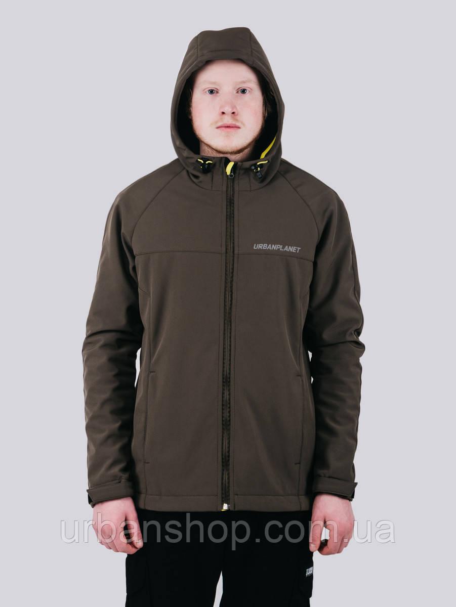 Куртка WM7 SOFTSHELL OLIVE Urban Planet M 100% поліестер Оливковый UP 2-1-1-47