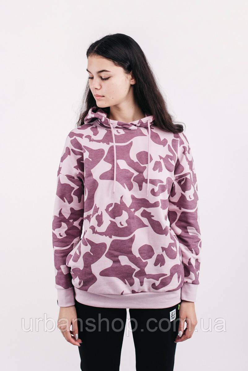 Толстовка женская зимняя SKULL PNK Urban Planet XL 90% котон, 10% еластан Розовый UP-3-3-0-54