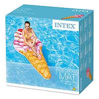 """Надувний матрас (плот) INTEX 58762 (6шт) """"Морозиво"""" (""""Мороженое"""") вініл, в кор. 224*107 см"""