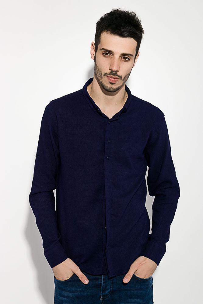 36013dbf580819a Рубашка мужская однотонная 511F004-2 (Темно-синий) от компании