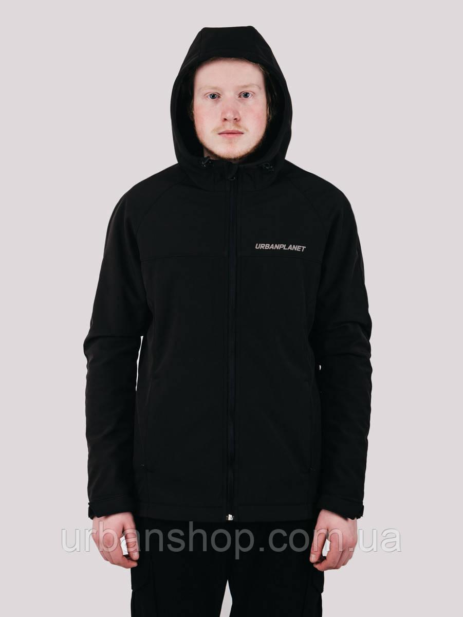 Куртка WM7 SOFTSHELL BLACK Urban Planet L 100% поліестер Черный UP 2-1-1-48