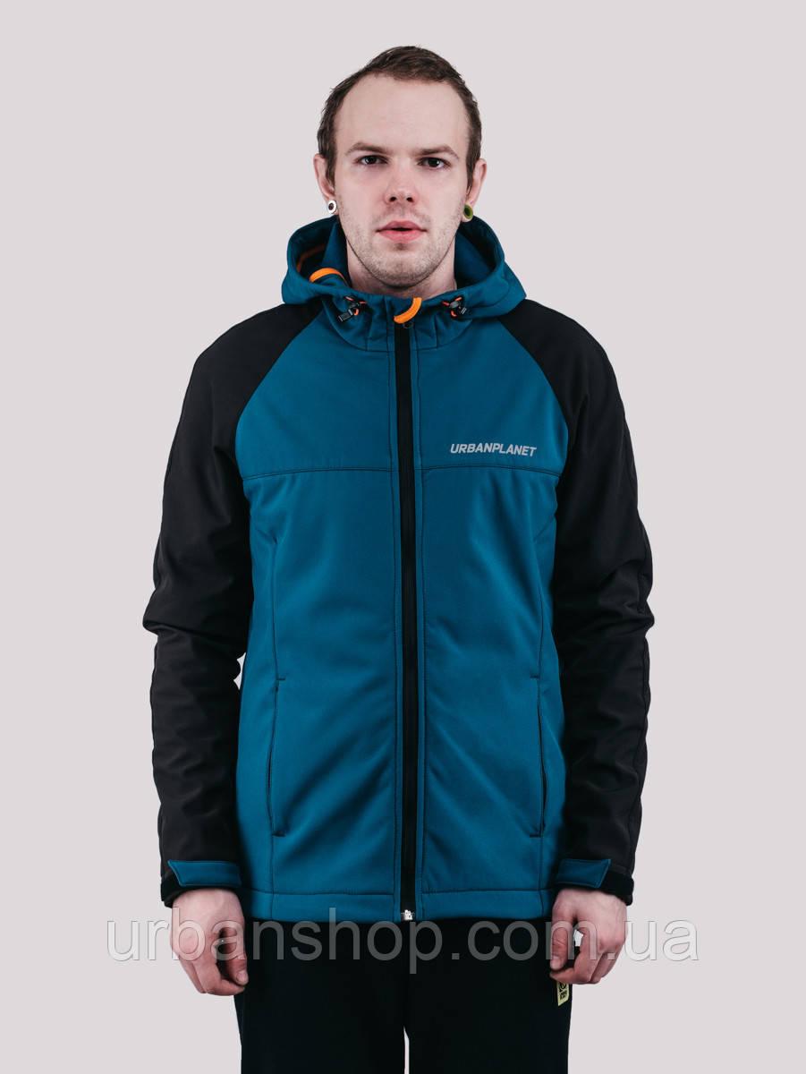 Куртка WM7 SOFTSHELL BLACK/DEEP Urban Planet L 100% поліестер Black/deep UP 2-1-1-49