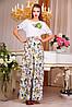 """Нежное летнее платье в пол """"Цветочный букет"""""""