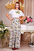 """Нежное летнее платье в пол """"Цветочный букет"""", фото 1"""
