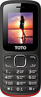 Мобильный телефон TOTO A1 Black/Red #I/S