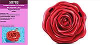 """Надувний матрас (плот) INTEX 58783 (6шт) """"Троянда"""" (""""Роза"""") вініл, в кор. 137*132 см"""