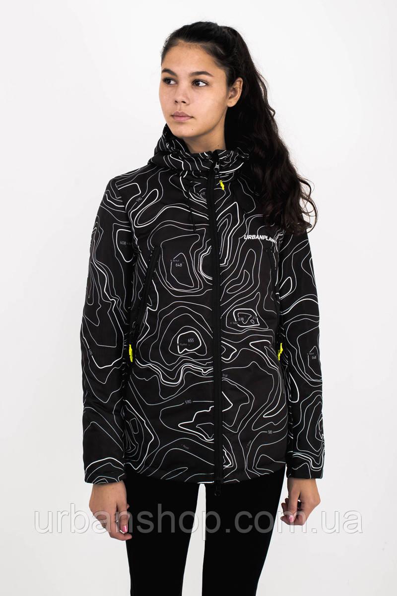 Куртка женская AW3 BLK/MAP Urban Planet L 100% поліестер Multicolor UP 2-1-2-12