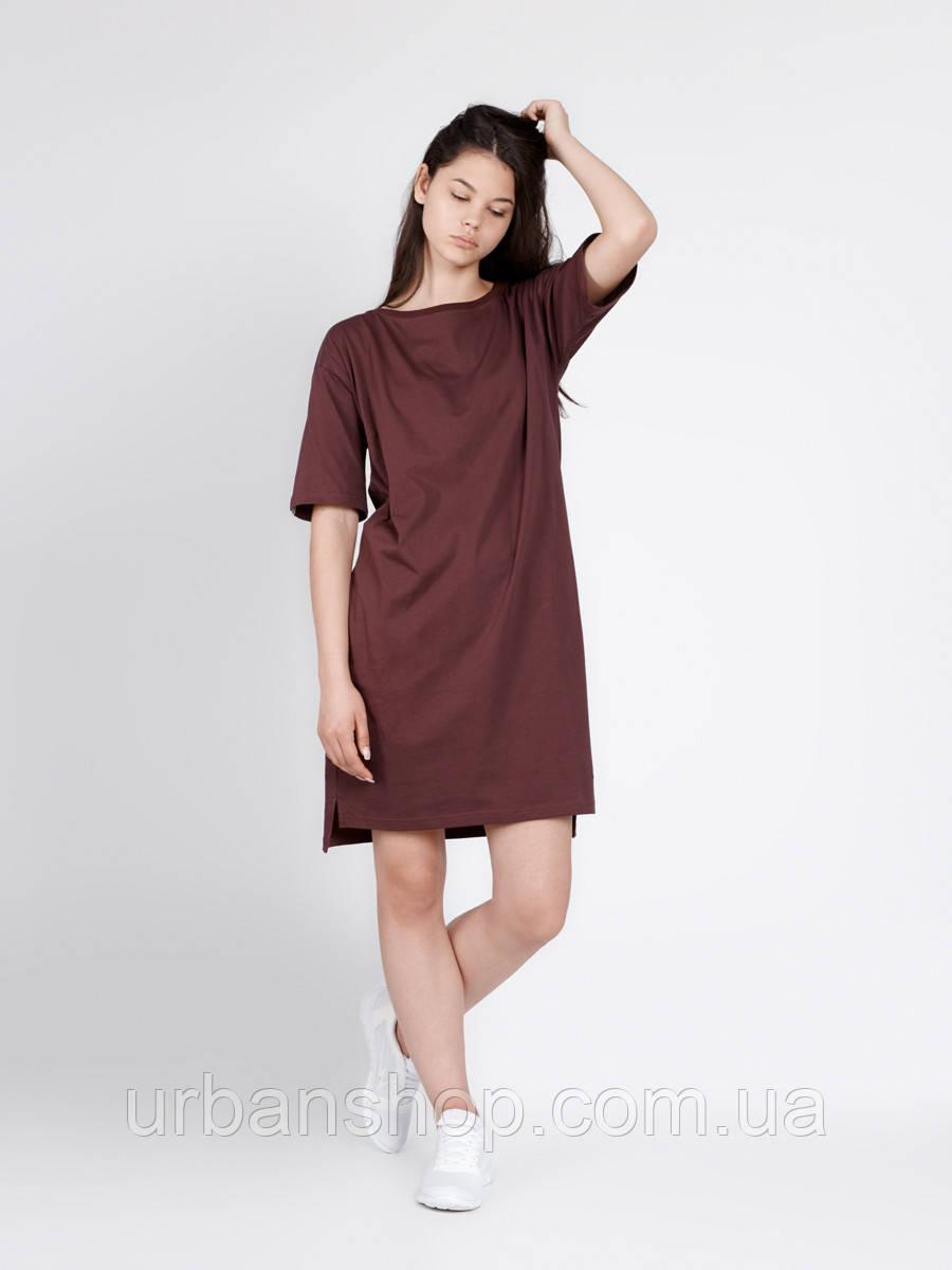 Платье WINE DRESS Urban Planet S 100% котон Марсала UP 1-1-1-1-04