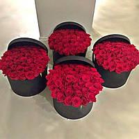 Розы в Коробке, Букет из 25/31/51/101 Роза. Букет/Цветы/Доставка/Киев