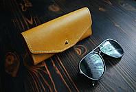 Кожаный чехол для очков. Изделия из натуральной кожи