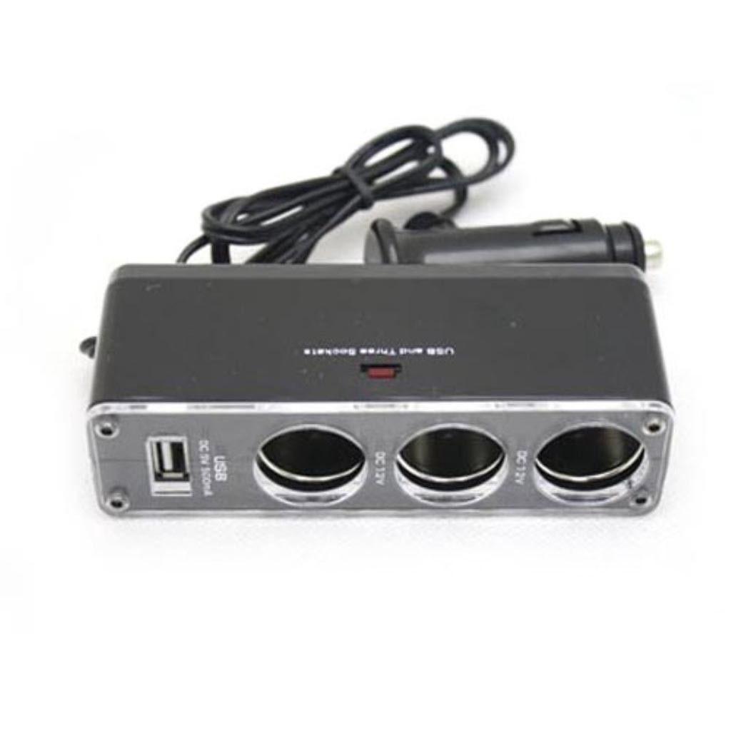 Тройник сплиттер в прикуриватель авто адаптер USB